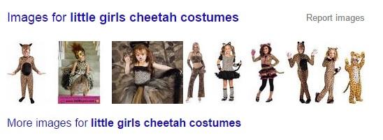"Cheetah Halloween costumes?  For a ""little girl""?"